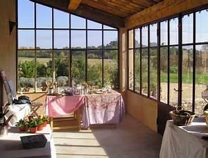 Veranda Style Atelier : toit en tuiles style ateler v randa veranda veranda bois et verriere ~ Melissatoandfro.com Idées de Décoration