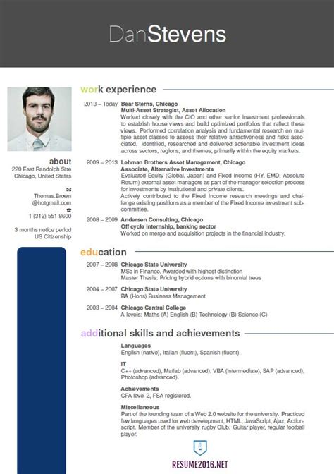 Format Of Resume 2016 by Resume Format 2016 Resume Format Trends