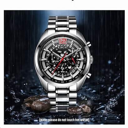 Watches Lige Luxury Quartz Mens Clock Waterproof