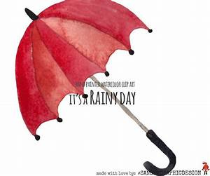Rain clip art, raindrops, umbrella's and clouds ...