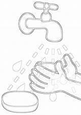Hygiene Coloring Pages Print sketch template