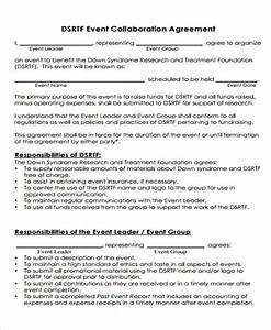 Collaboration agreement templates 10 free sample for Collaboration contract template