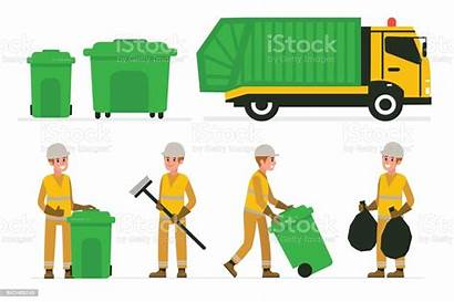 Garbage Vector Illustration Adult Finance Russia Industry