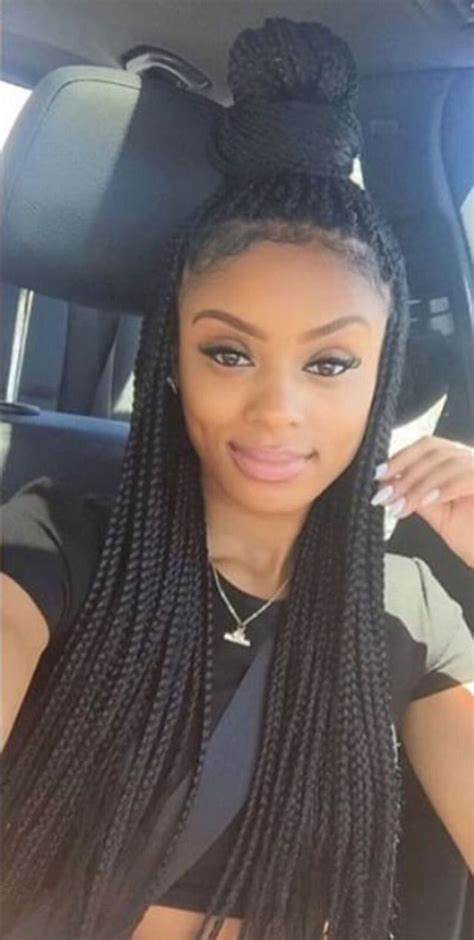 braids styles black hair 55 trendy the different box braids artificial hairstyles 2018 2794