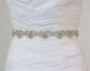 sierra ready to ship rhinestone bridal belt wedding With beaded belt for wedding dress