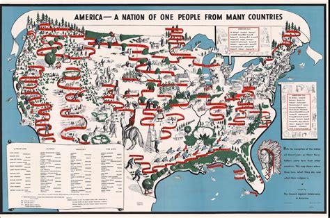 1940 Map Of American Ethnic Groups Owned By
