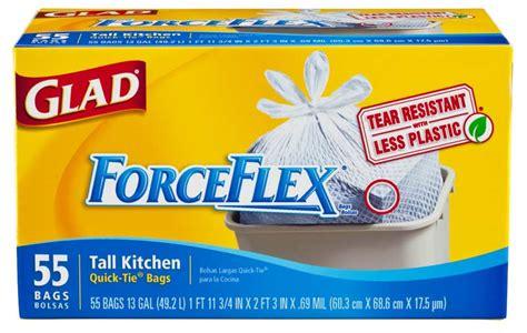 kitchen trash bags glad forceflex kitchen tie trash
