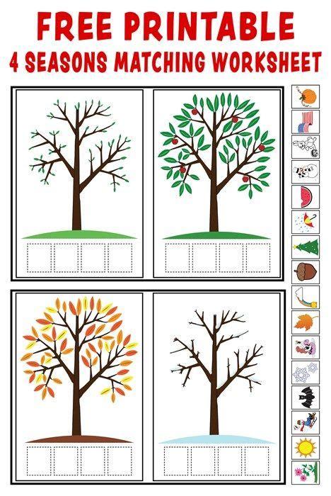 quot season match up quot free printable 4 seasons matching worksheet worksheets free printable and free