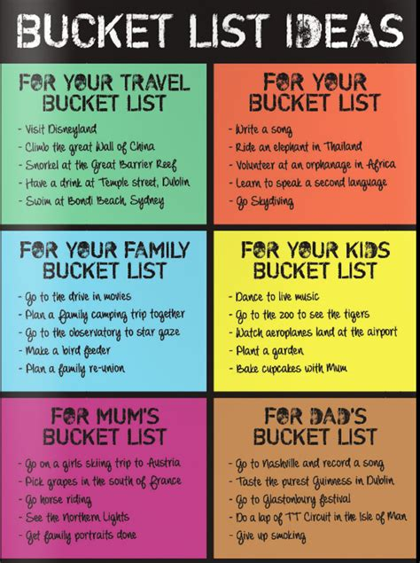 bucket list splosh kid s list gift idea gifts