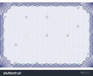 blue certificate template blue certificate template stock vector illustration - Blue Certificate Border Template