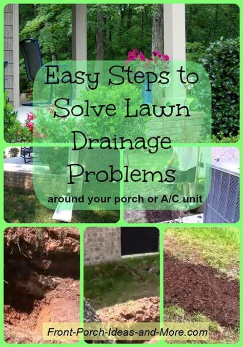 lawn drainage ideas solve your lawn drainage problem