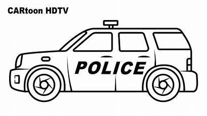 Coloring Pages Police Suv Vehicles Cartoon Colors