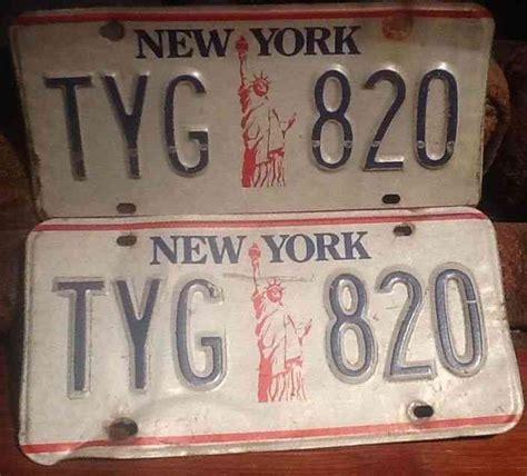 nys vanity plates new york license plate
