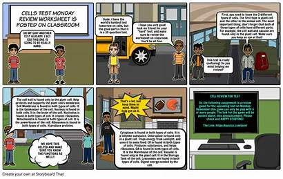 Comic Strip Cells Project Science Storyboard Windows