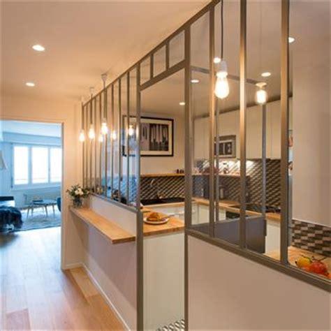 cloison cuisine ouverte cuisine en image