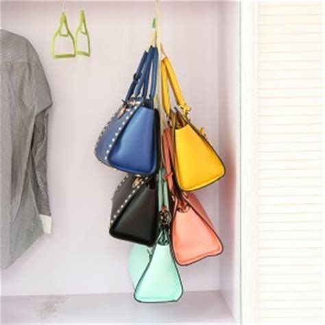 Closet Hooks For Purses by 5 Bags Sided Handbags Hanger Holder Purse Organizer