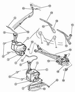 2004 Chrysler Sebring Nozzle  Washer  Windshield  Nozzles