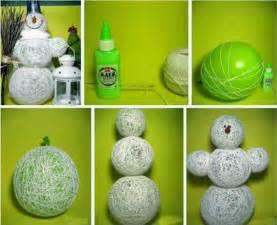 creative and simple christmas decoration ideas ballon snowman toy for chrismas eve interestings