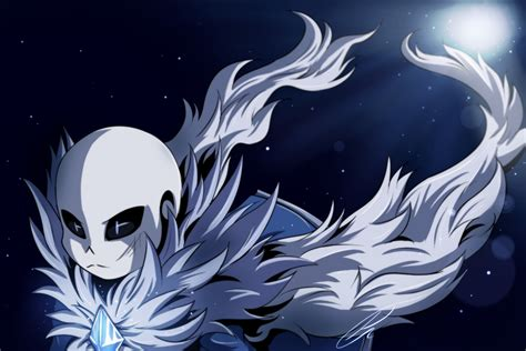 abyss sans art trade by jeyawue on deviantart