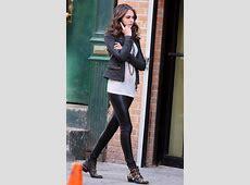 Willa Holland on the Gossip Girl Set Leather Celebrities