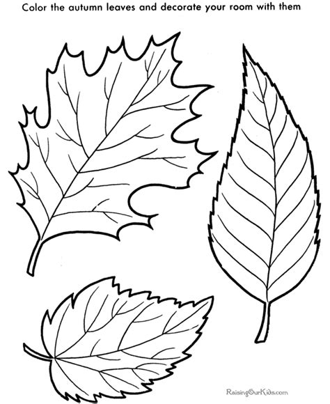 leaf color pages coloring home