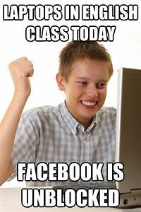 Laptops in english class today Facebook is unblocked - 1st ...