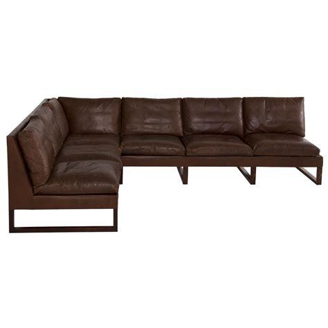 dark brown sectional sofa danish mid century cornersofa in dark brown leather at 1stdibs