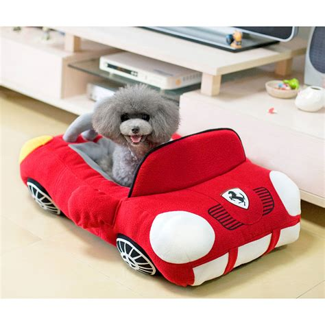 Cool Sports Car Shaped Pet Dog Bed House Chihuahua