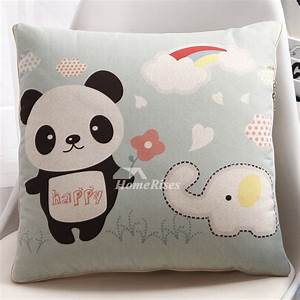 light green cute cartoon polyester fiber square cheap With cute affordable throw pillows