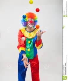 Circus Clown Juggling Balls