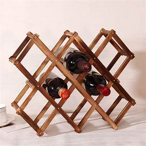 1pcs, Wood, Wine, Holder, 10, Bottles, Wood, Folding, Wine, Racks, Foldable, Wine, Stand, Wooden, Wine, Holder
