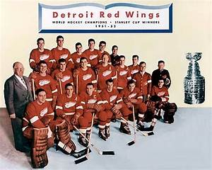 1951 52 Stanley Cup Champions The Greatest Team In Red