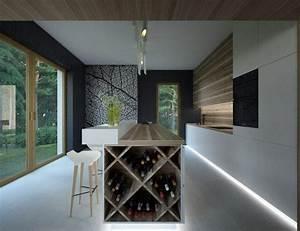 rangement bouteille cuisine cuisine range bouteilles With cuisine avec cave a vin