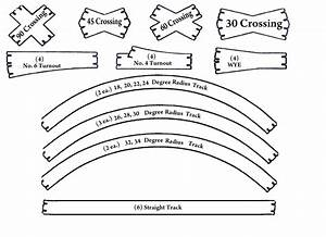 Ho scale track template kit bear creek model railroad for Model railroad track templates