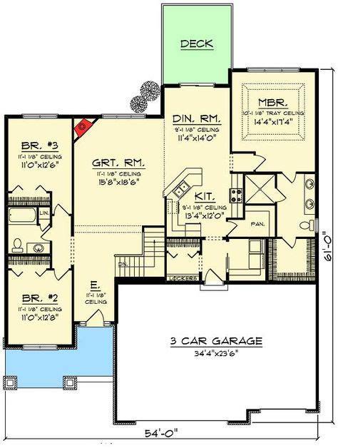 craftsman open floor plans plan 89988ah 3 bed craftsman ranch with open concept floor plan craftsman ranch open concept