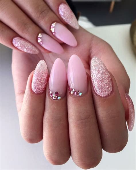 nägel weiß glitzer pink sugar coated nails nechty v roku 2019
