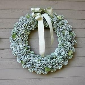 Gorgeous, Glitter, Pine, Cone, Wreath