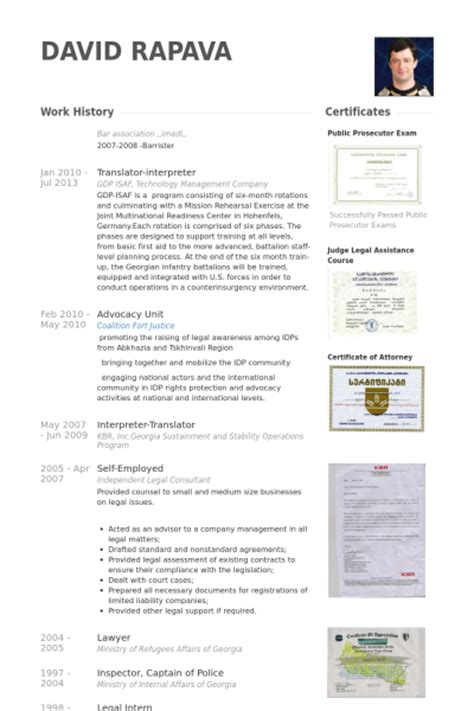 Interpreter Resume by Exles Of Cv In