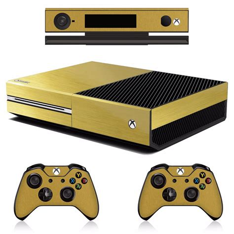 Skin Xbox One Oro Brushed Inc. Consola, 2 Controles 1