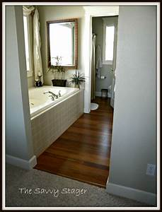 Bamboo floors in master bathroom bathrooms pinterest for Bamboo in the bathroom
