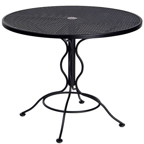 woodard 36 quot mesh top set up bistro umbrella table