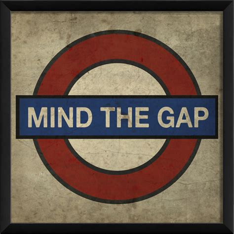 quot mind the gap quot london underground print 16 quot x16 quot contemporary prints and posters by the