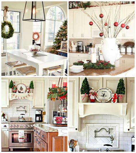 cuisine de a z noel décoration noël de la cuisine un décor élégant pour les fêtes