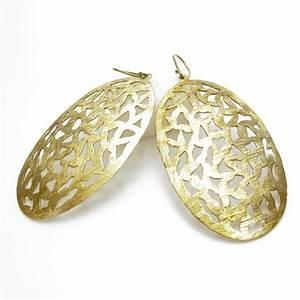 Grosse Boucle D Oreille : grosse boucles d 39 oreille dor e bijoux en laiton bl12 ~ Melissatoandfro.com Idées de Décoration