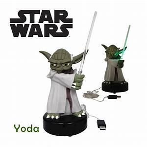 Lampe Star Wars : lampe usb yoda star wars kas design distributeur de cadeaux originaux et gadgets insolites ~ Orissabook.com Haus und Dekorationen