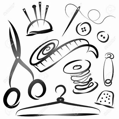Vector Sewing Tailor Tools Kit Clipart Illustration