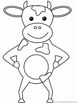 Coloring Cow Pages Printable Popular sketch template