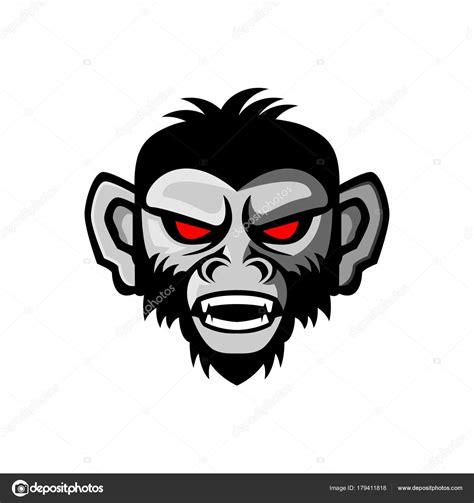 angry monkey vector illustration stock vector  eko