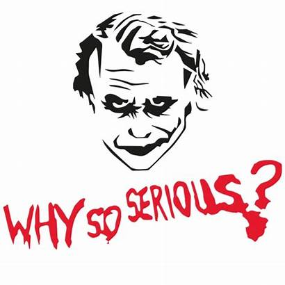 Joker Why Serious Dark 4k Aufkleber Dafunk