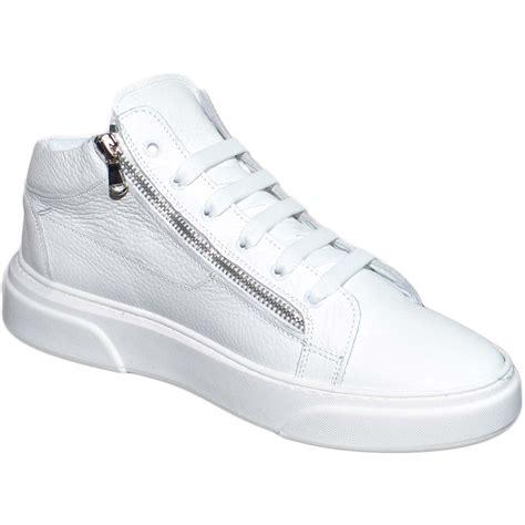 Ciu Ciu Sneakers sneakers bassa uomo in vera pelle bortolato bianco con